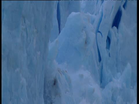 vídeos y material grabado en eventos de stock de glacier calves into frozen sea - fundir técnica de vídeo