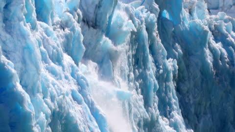 glacier calving - glacier stock videos & royalty-free footage