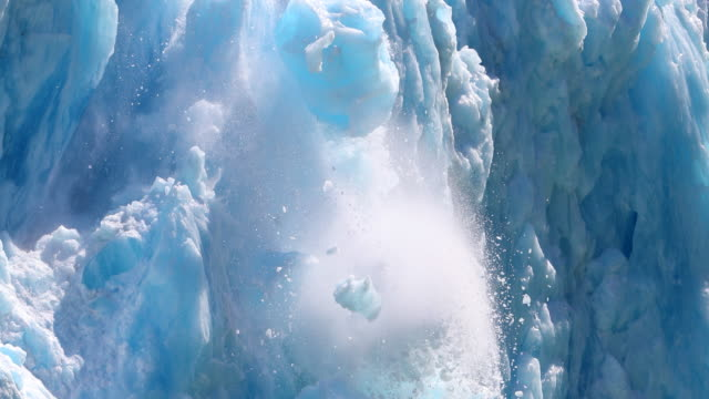 glacier calving - falling stock videos & royalty-free footage