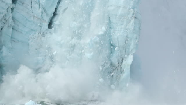 glacier calving - glacier stock videos & royalty-free footage