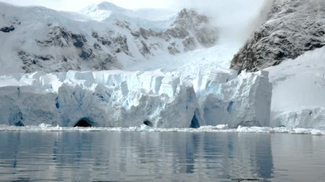 glacier close up in antarctica - antarctic peninsula stock videos & royalty-free footage
