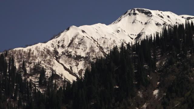Glacier covered mountain top, Ladakh, India