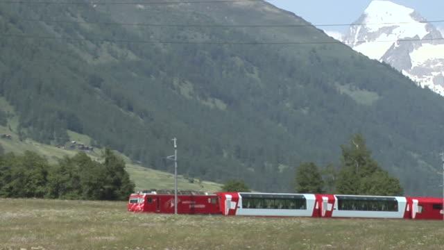 Glacier express near Oberwald