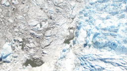 Glacier Iceberg Field Tilt up (1of2)