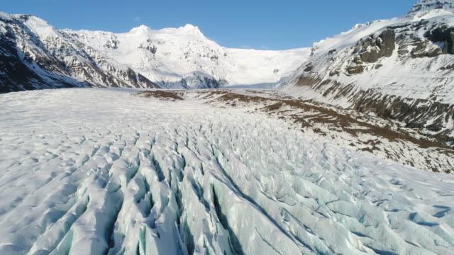 glacier iceland - crevasse stock videos & royalty-free footage