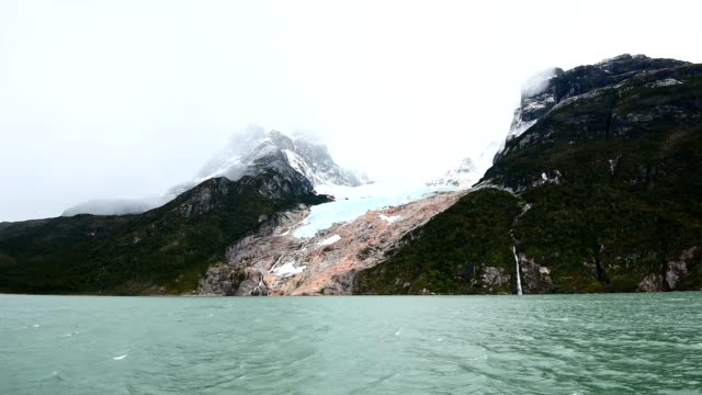 glacier in the chilean patagonia - patagonia chile stock videos and b-roll footage