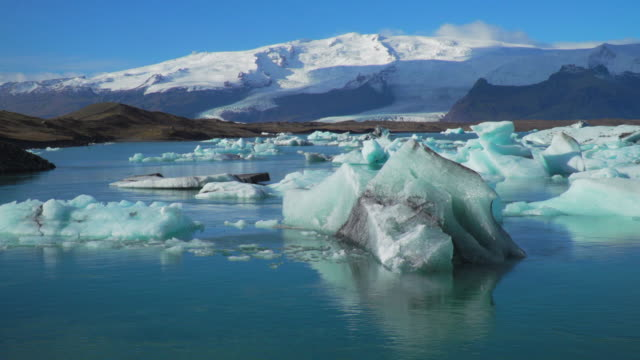 glacier lagoon, iceland - ice sheet stock videos and b-roll footage