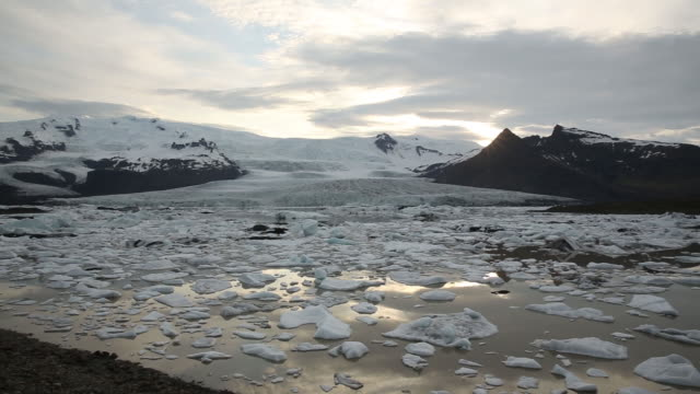 glacier lagoon in iceland. - reykjavik stock videos and b-roll footage