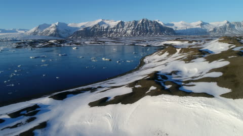 vídeos de stock e filmes b-roll de glacier lagoon - islândia