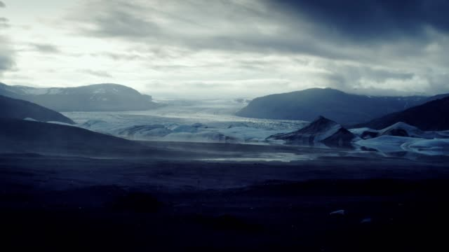 glacier lagoon with dramatic sky - lagoon stock videos & royalty-free footage