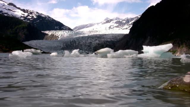 glacier lake icebergs alaska global warming sea level rise - ice sheet stock videos and b-roll footage