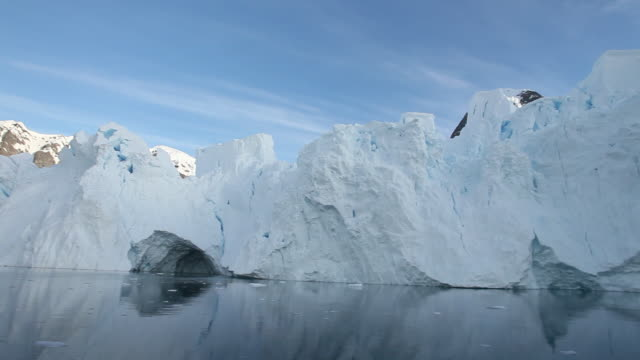 Glacier; move past from boat, Antarctica