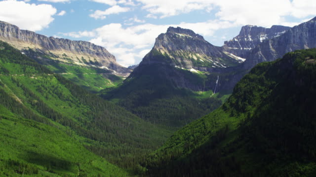 Glacier National Park time lapse with push in.