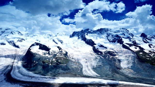 glacier of the matterhorn - pennines stock videos & royalty-free footage