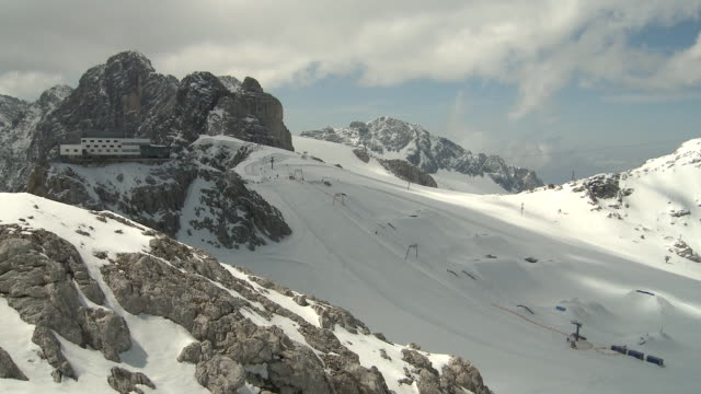 glacier park shaping time-lapse - dachstein mountains stock videos and b-roll footage