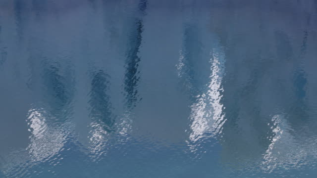 Glacier reflections in calm sea, abstract nature