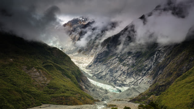 ZEITRAFFER: - Gletscher