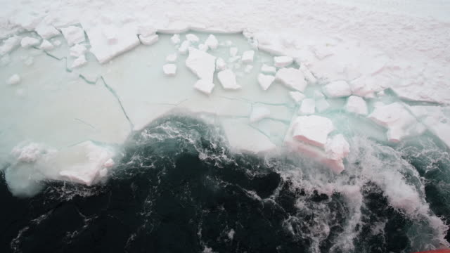 vidéos et rushes de glacier view from a icebreaker / antarctica - pôle sud