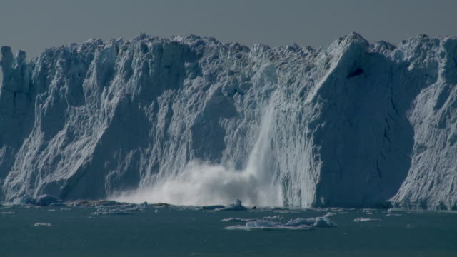 glacier wall calving - glacier stock videos & royalty-free footage