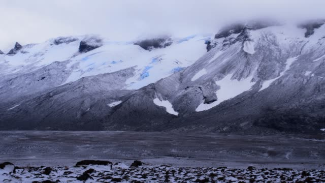 ds glaciers and mountains in iceland - icefall stock videos and b-roll footage