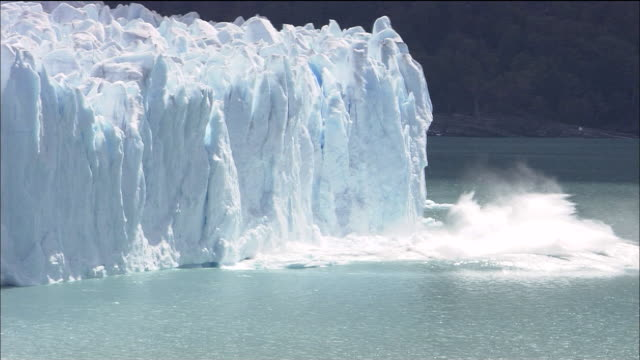 glaciers calve into sea, patagonia - glacier stock videos & royalty-free footage