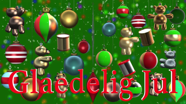 Jul videos and b roll footage getty images glaedelig jul danish greeting with christmas decorations and snow m4hsunfo