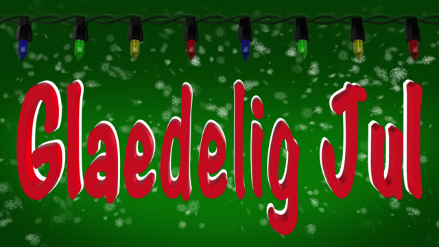 Jul videos and b roll footage getty images glaedelig jul danish greeting with christmas lights and snow background m4hsunfo