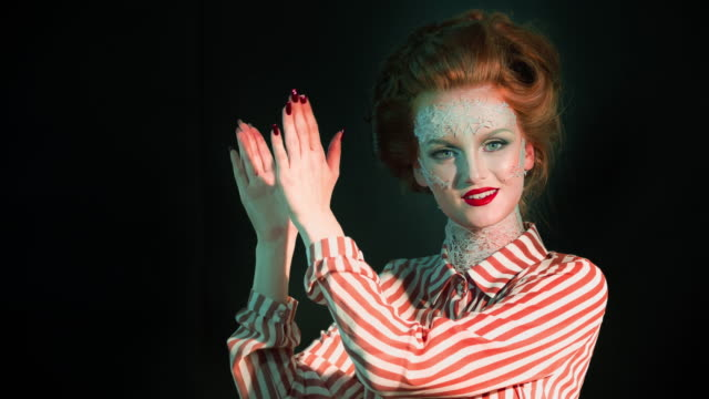glam retro diva - bizarre fashion stock videos and b-roll footage