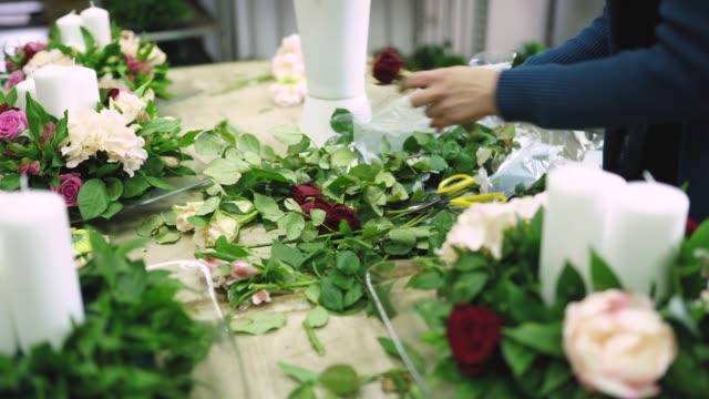 glamorous floral decoration - flower arrangement stock videos & royalty-free footage