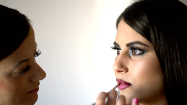 glamorous make-up - lip liner stock videos & royalty-free footage