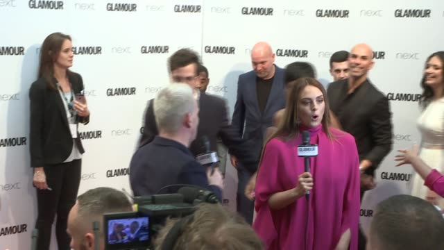 red carpet interviews Adam Lambert interview SOT Geri Halliwell and Anthony Joshua along red carpet Alesha Dixon interview SOT Jennifer Hudson...
