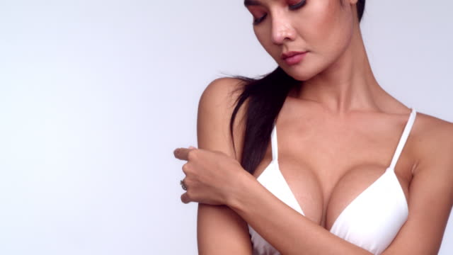 glamour - cleavage breasts stock videos and b-roll footage