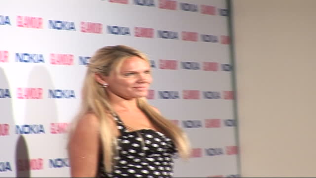 glamour women of the year awards 2006: arrivals; england: london: berkeley square: int billie piper wearing yellow print dress talking to press sot -... - spotted stock videos & royalty-free footage
