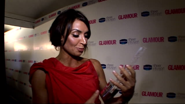winners room christine bleakley with piers morgan and amanda holden bleakely interview sot shows off award went last year can't believe she's won /... - bicep stock videos and b-roll footage