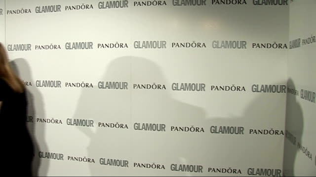 glamour women of the year awards 2011: red carpet arrivals / winner's room; winner's room: **beware flash photography** davina mccall posing with the... - ジェーン ゴールドマン点の映像素材/bロール