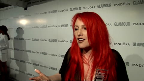 glamour women of the year awards 2011: red carpet arrivals / winner's room; jane goldman speaking to press and interview sot - on winning filmmaker... - ジェーン ゴールドマン点の映像素材/bロール