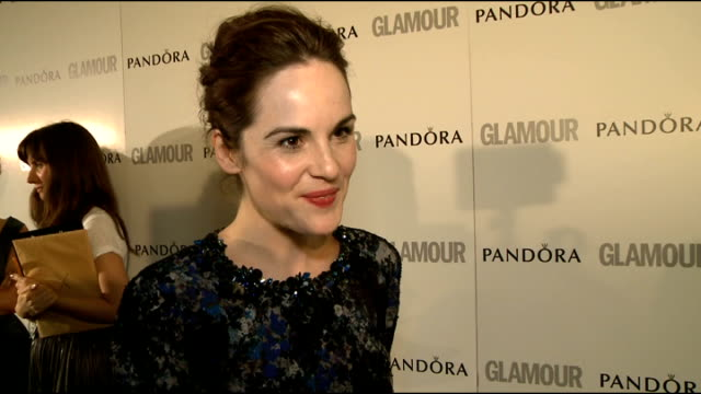 winners' room interviews Michelle Dockery interview SOT on award on new series of Downton Abbey on not giving anything away