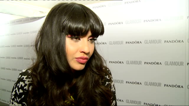 red carpet arrivals / winners' room jameela jamil posing with greg james / jameela jamil interview sot / joanne frogatt posing with allen leech and... - greg james stock videos and b-roll footage