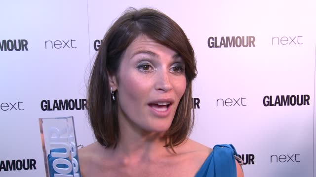Winners room Gemma Arterton interview SOT on what she has coming out this year / Arterton as interviewed in winners room / Erin O'Connor interview...