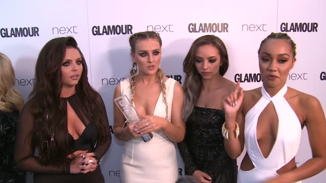 winners room more of little mix being interviewed sot / little mix interview sot / tennis player johanna konta posing backstage / gemma arterton iv... - jade stock videos & royalty-free footage