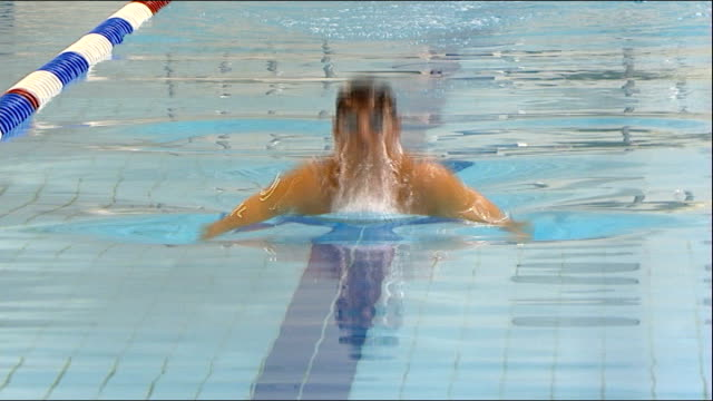 tickets go on sale SCOTLAND Glasgow PHOTOGRAPHY*** Various shots of Michael Jamieson swimming two lengths of the swimming pool to launch the sale of...