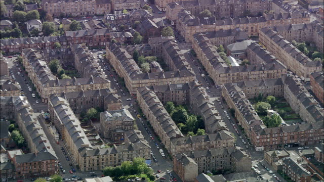 Glasgow  - Aerial View - Scotland, Glasgow City, United Kingdom