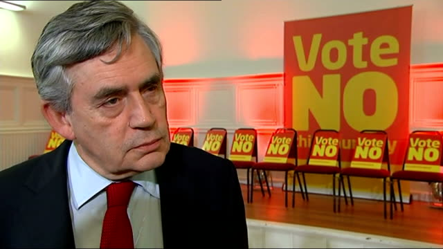 gordon brown mp interview sot - thursday is decision day, september 19th is the start of delivery - we've set a timetable for extra powers for the... - 証書点の映像素材/bロール