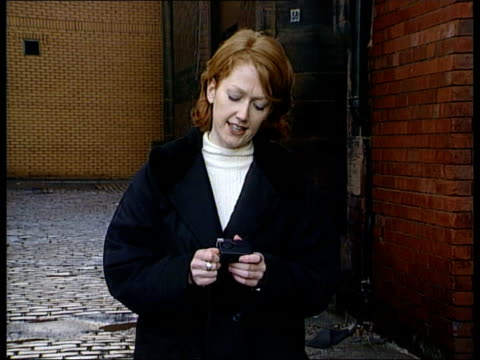 stockvideo's en b-roll-footage met glasgow prostitute murders police to hand out alarms at night day i/c holding alarm to be issued to prostitute police pkf dci nanette pollock intvwd... - former