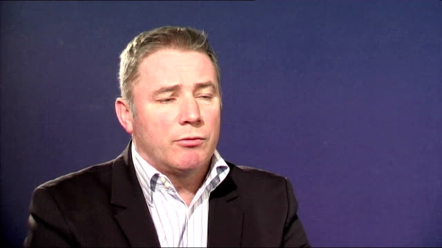 vídeos de stock e filmes b-roll de glasgow rangers administrators to sell club as quickly as possible int ally mccoist interview sot - ally mccoist