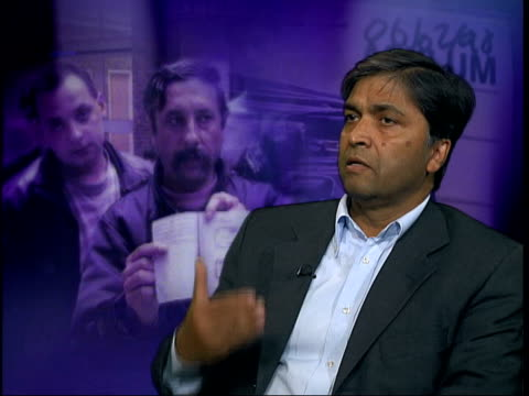 Sighthill asylum seekers tensions ITN ENGLAND London GIR Habib Rahman interview SOT Policy may be a breach of the Human Rights Convention