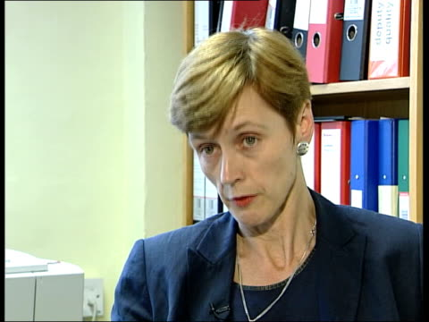 Sighthill asylum seekers tensions ITN ENGLAND London Margaret Lally interview SOT Talks of dealing with refugees who did not want to stay in...
