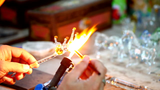 Glass blower forming