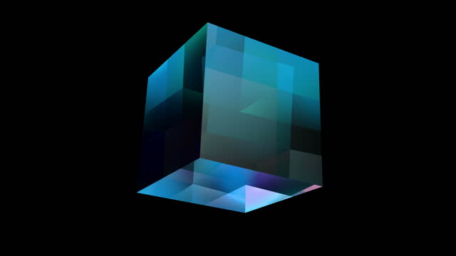 glass cube 4k loop alpha channel - stone object stock videos & royalty-free footage