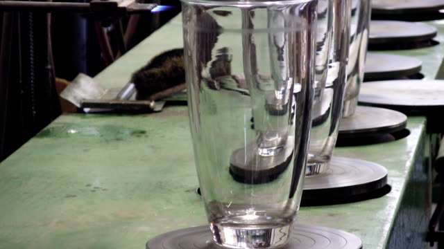 glass factory (hd) - traditionally czech stock videos & royalty-free footage